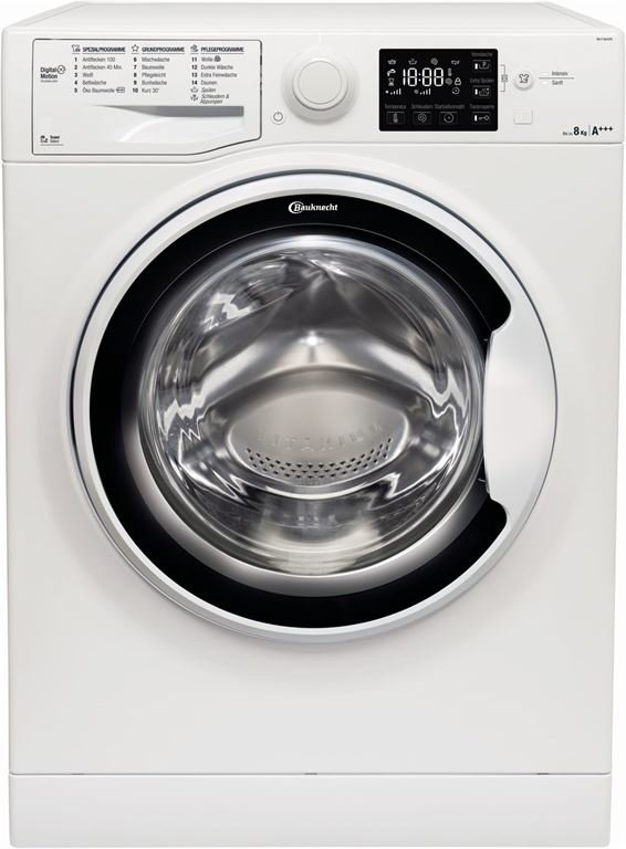 Bauknecht WA P 8G43PS (weiss), Fassungsvermögen Wäsche 8, U/Min. in der max. Schleuderstufe 1400, A+++, Spektrum [A+++ bis D]