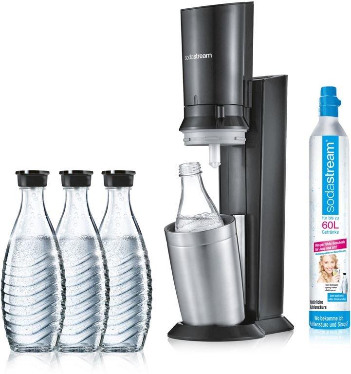 SodaStream Crystal 2.0 Aktionspack 3 Karaffen (titan)