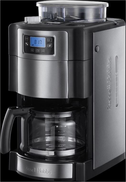 Russell Hobbs Buckingham Grind&Brew Glas-Kaffeem. (edelstahl/schwarz)